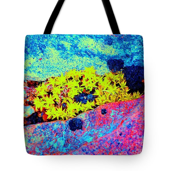 Tote Bag featuring the photograph Rocky Mountain Stonecrop by Ann Johndro-Collins
