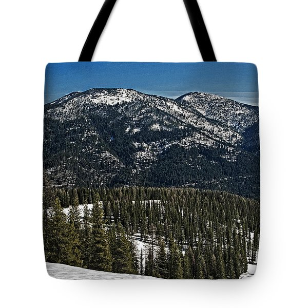 Rocky Mountain Top Tote Bag by Andy Crawford