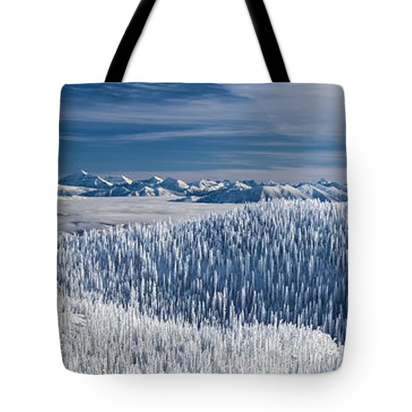 Rocky Mountain Winter Tote Bag by Aaron Aldrich