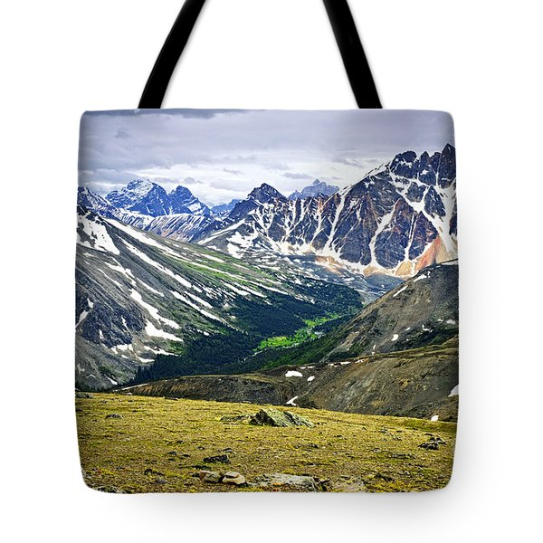Rocky Mountains In Jasper National Park Tote Bag