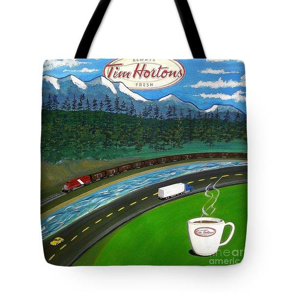 Rocky Mountains Tote Bag by John Lyes