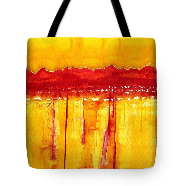 Rocky Mountains Original Painting Tote Bag
