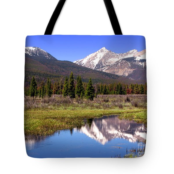 Rocky Mountains Peaks Tote Bag