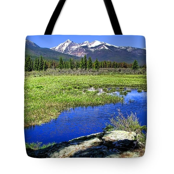 Rocky Mountains River Tote Bag
