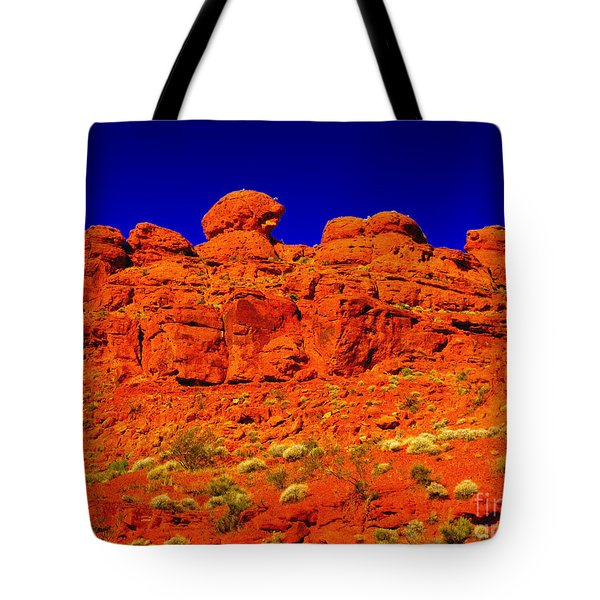 Tote Bag featuring the photograph Rocky Outcrop by Mark Blauhoefer