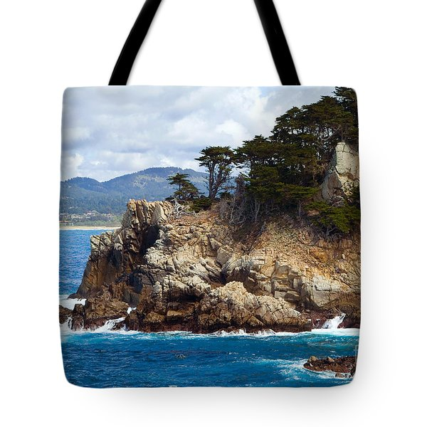 Rocky Outcropping At Point Lobos Tote Bag