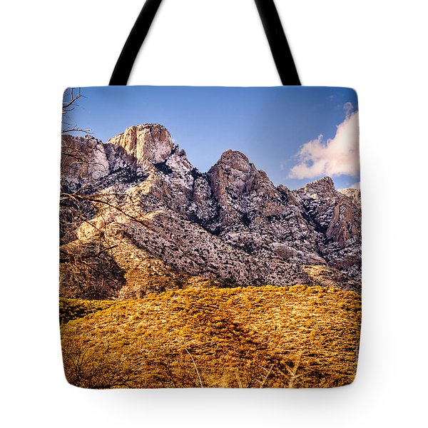 Tote Bag featuring the photograph Rocky Peaks by Mark Myhaver