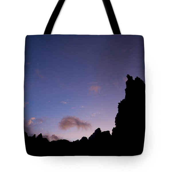 Rocky Purple Sunset Tote Bag by Charmian Vistaunet