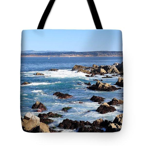 Rocky Remains At Monterey Bay Tote Bag