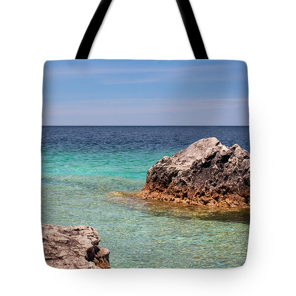 Rocky Shoals Of Tobermory Tote Bag