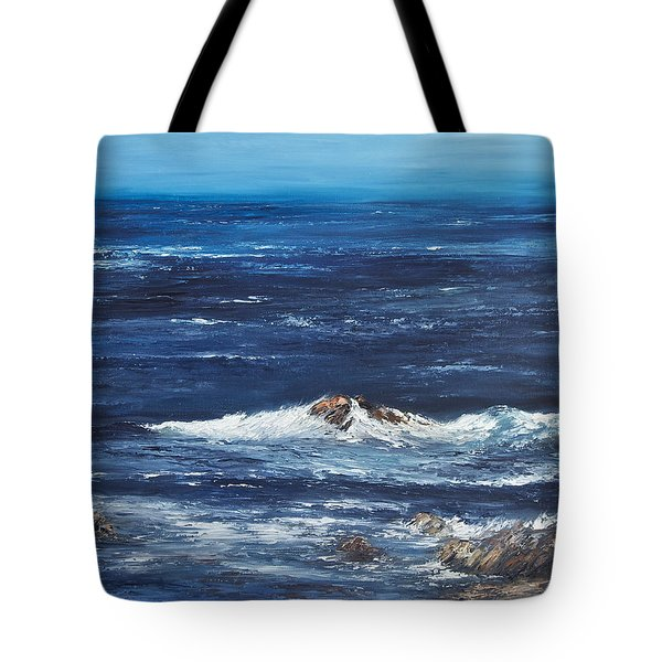 Rocky Shore Tote Bag by Valerie Travers