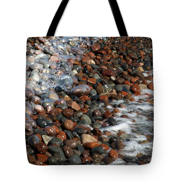 Tote Bag featuring the photograph Rocky Shoreline Abstract by James Peterson