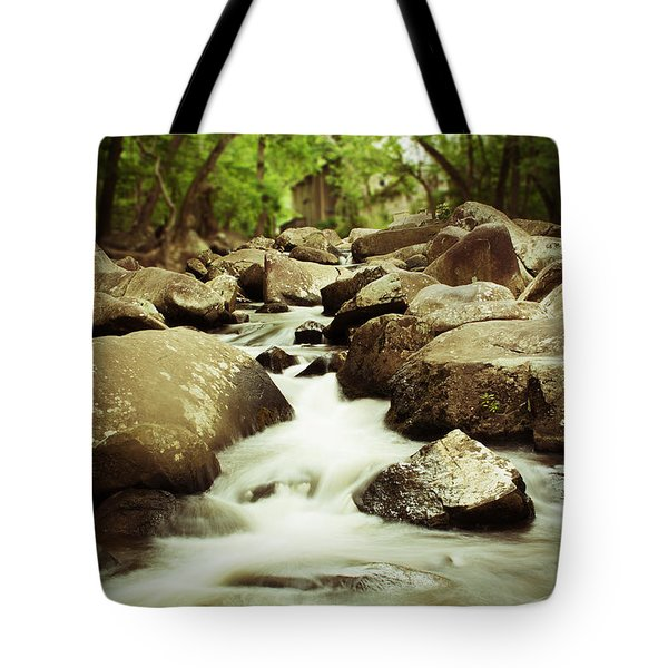 Rocky Stream Tote Bag
