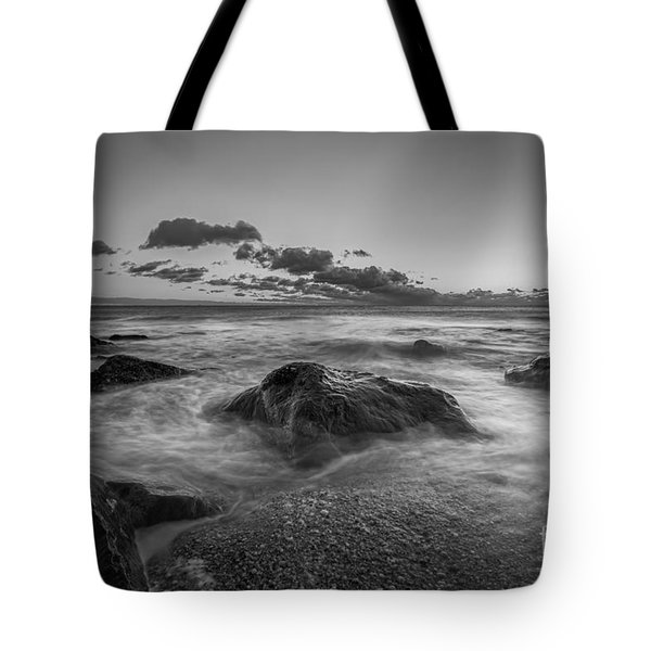Rocky Sunrise Bw Tote Bag