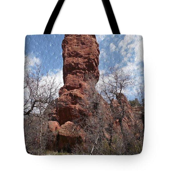 Rocky Totem Tote Bag