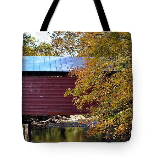 Roddy Road Covered Bridge Tote Bag by Cathy Shiflett