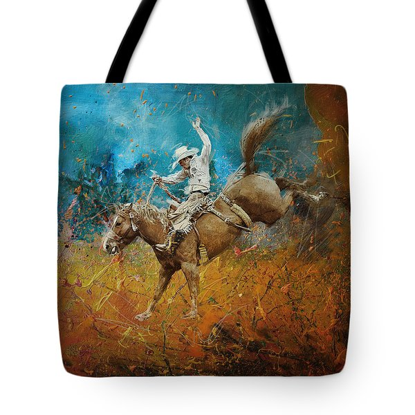 Rodeo 001 Tote Bag by Corporate Art Task Force