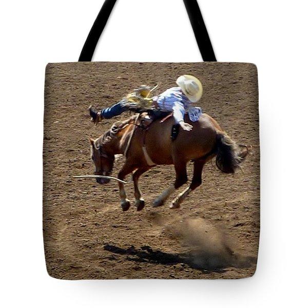 Rodeo Time Bucking Bronco 2 Tote Bag by Susan Garren