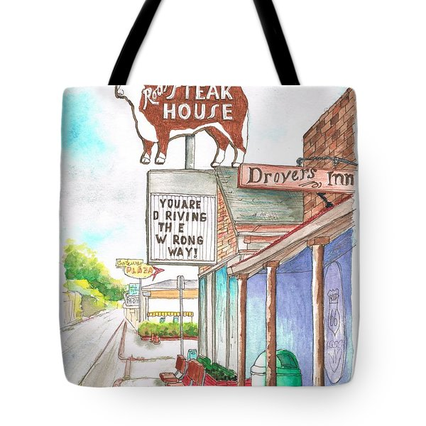 Rod's Steak House In Route 66 - Williams - Arizona Tote Bag