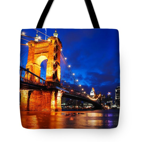 Roebling Bridge Cincinnati Tote Bag