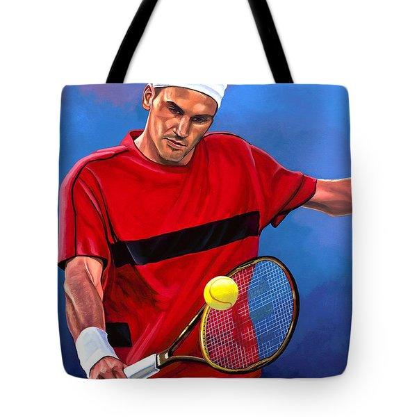 Roger Federer The Swiss Maestro Tote Bag