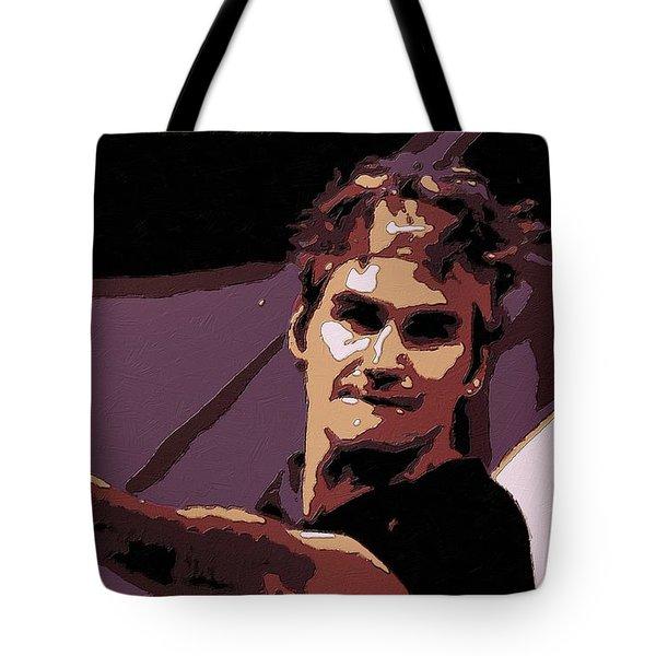 Roger Federer Poster Art Tote Bag by Florian Rodarte