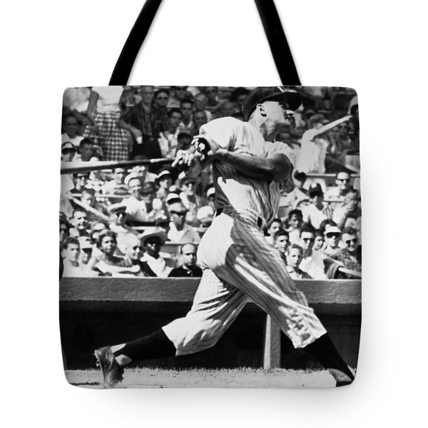 Roger Maris Hits 52nd Home Run Tote Bag by Underwood Archives