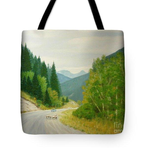 Rogers Pass Bc Tote Bag