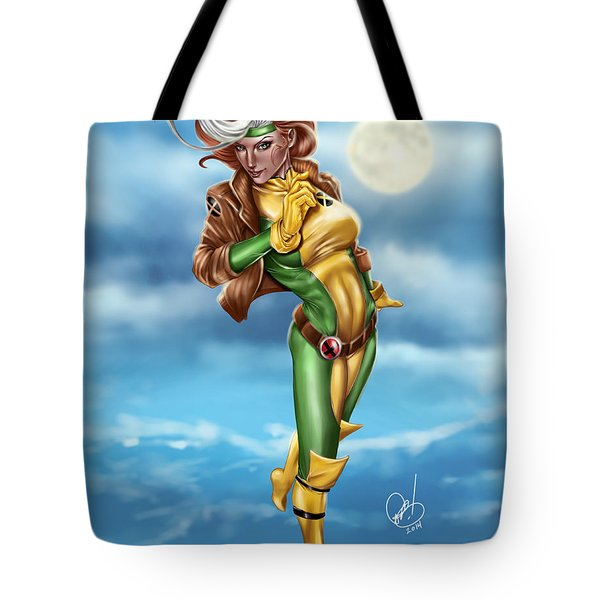 Tote Bag featuring the painting Rogue by Pete Tapang
