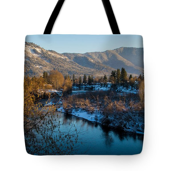 Rogue River Winter Tote Bag