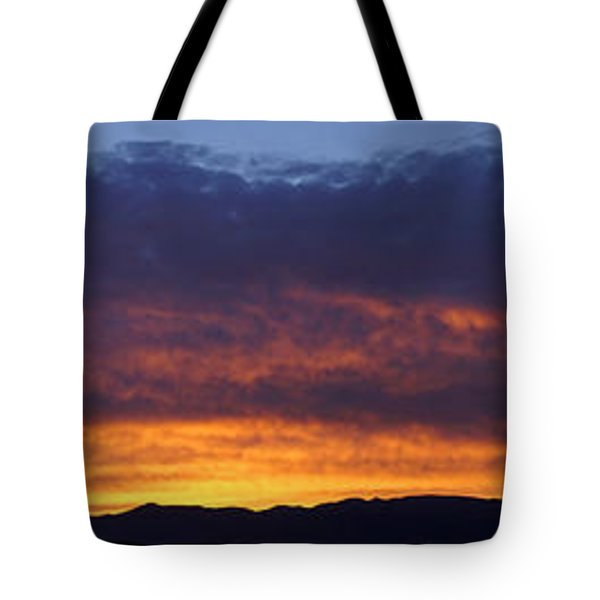 Rogue Valley Sunset Panoramic Tote Bag