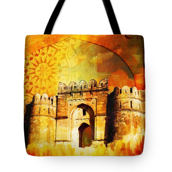 Rohtas Fort 00 Tote Bag by Catf
