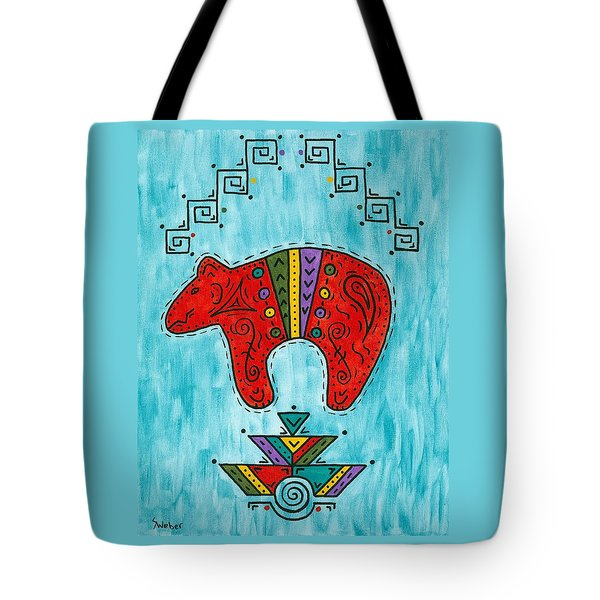 Rojo Oso Tote Bag by Susie WEBER