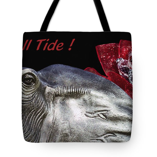 Roll Tide - 14 Time National Champions Tote Bag by Kathy Clark