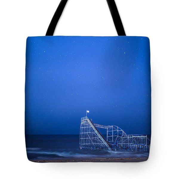Roller Coaster Stars Tote Bag by Michael Ver Sprill