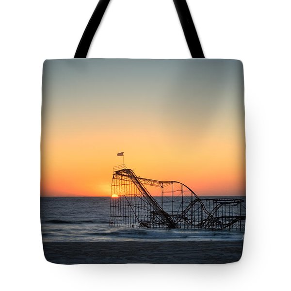 Roller Coaster Sunrise Tote Bag by Michael Ver Sprill