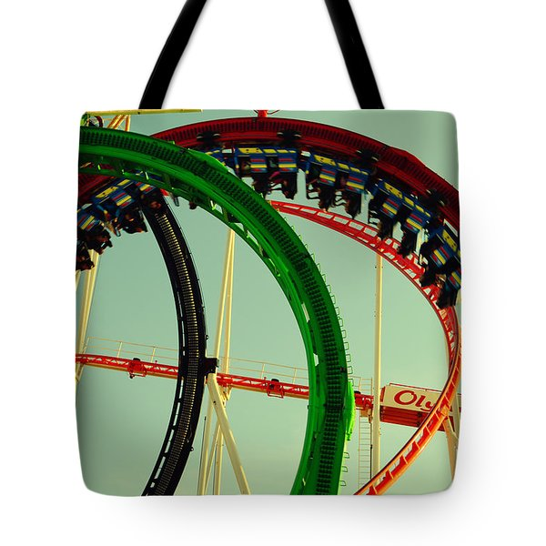 Rollercoaster Looping At The Actoberfest In Munich Tote Bag by Sabine Jacobs