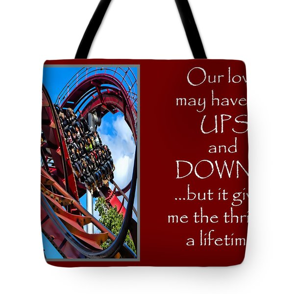 Rollercoaster Valentine Tote Bag