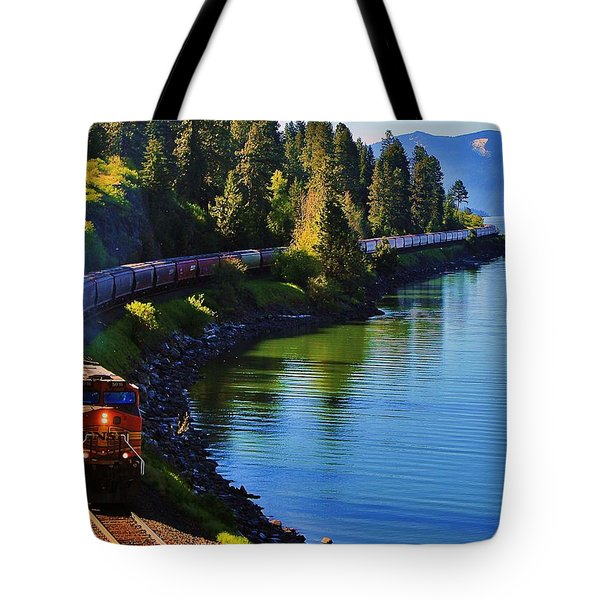 Rollin' Round The Bend Tote Bag by Benjamin Yeager