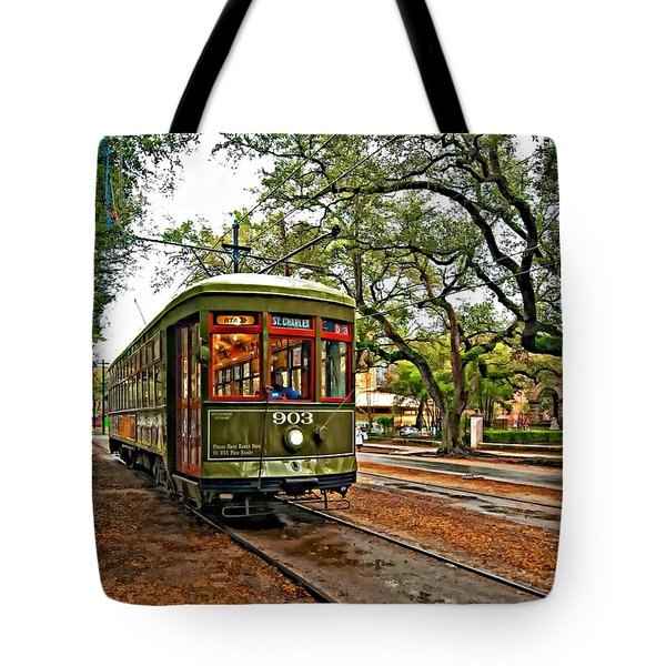 Rollin' Thru New Orleans Tote Bag by Steve Harrington