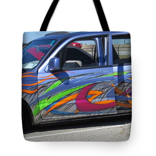 Rolling Art Lowrider Tote Bag by Aaron Martens
