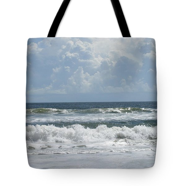 Rolling Clouds And Waves Tote Bag