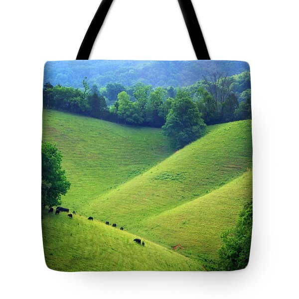 Rolling Hills Of Tennessee Tote Bag