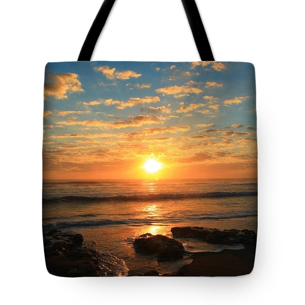 Rolling Over Rocks Tote Bag by Catie Canetti