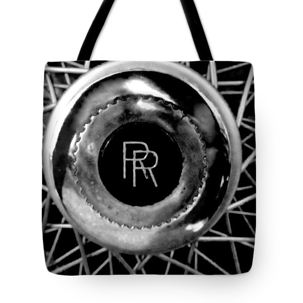 Rolls Royce - Black And White Tote Bag