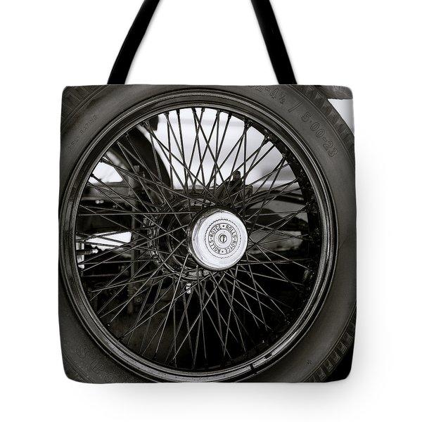 Rolls Royce Wheel Tote Bag