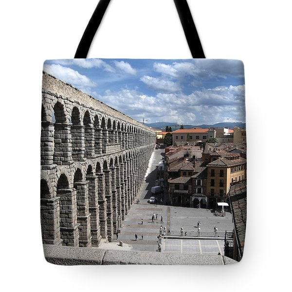 Roman Aqueduct I Tote Bag by Farol Tomson