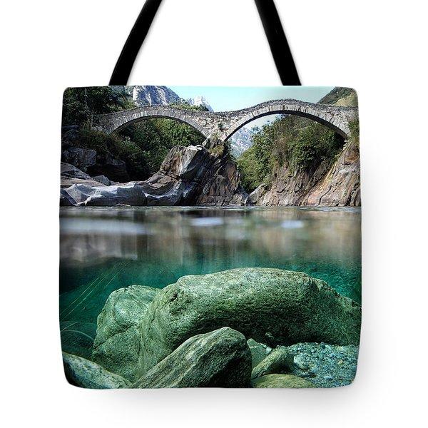 Roman Bridge Tote Bag