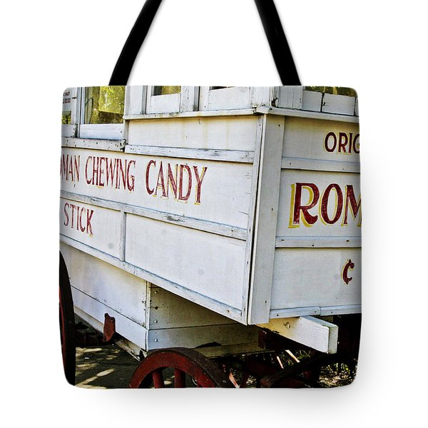 Roman Chewing Candy Tote Bag by Scott Pellegrin