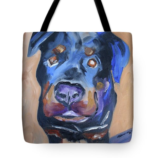 Tote Bag featuring the painting Roman by Donna Tuten